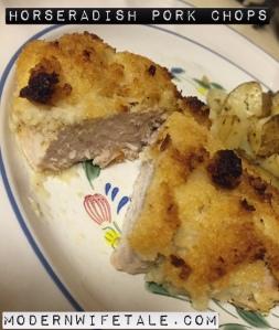 Horseradish pork chop