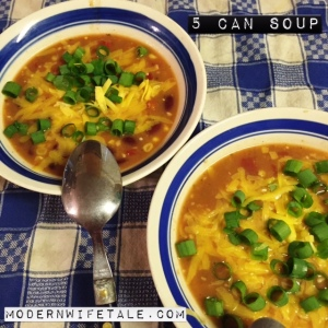 5 Can Soup - Cheap, Easy & Tasty